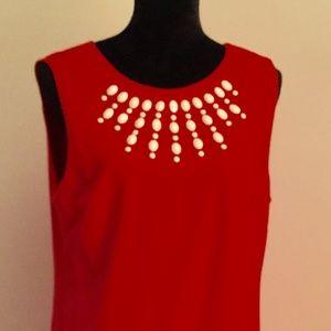 Cynthia Steffe Red Retro A Line dress